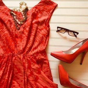Shoshanna Summer Shift Style Dress Coral